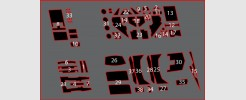 Labels for Siege Race Car and Airstrike Patrols