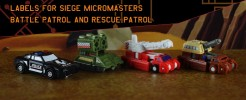 Labels for Siege Battle Patrol and Rescue Patrol