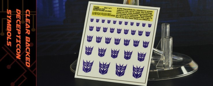 Symbols for Decepticons (Clear backed)