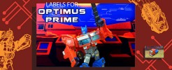 Labels for Generations Optimus Prime