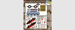 GI Joe Tiger Rat VTOL Fighter Jet Custom Set 2 sheet