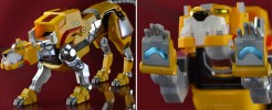 Labels for Voltron Legendary Yellow Lion