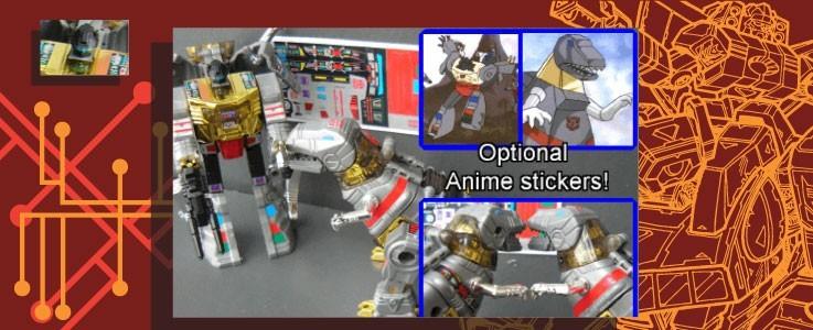 Labels for Dinorobots Commander