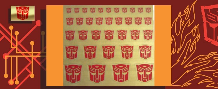 Symbols for Autobots (Gold backed)