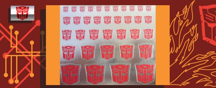 Symbols for Autobots (MIrror backed)