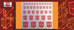 Symbols for Autobots (Silver backed)