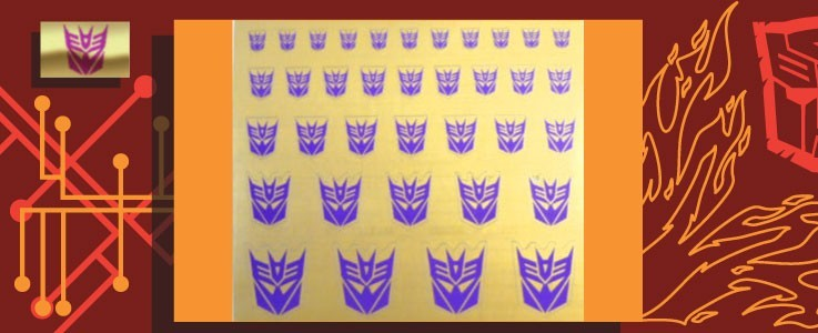 Symbols for Decepticons (Gold backed)