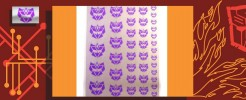 Symbols for G2 Decepticons (Silver backed)