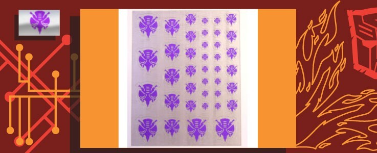 Symbols for Predacons (Silver backed)