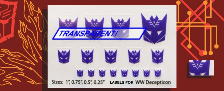 Symbols for WW Decepticons