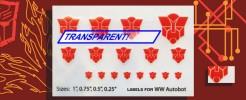 Symbols for WW Autobots