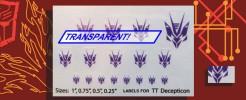 Symbols for Transtech Decepticons