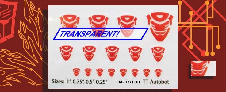 Symbols for Transtech Autobots