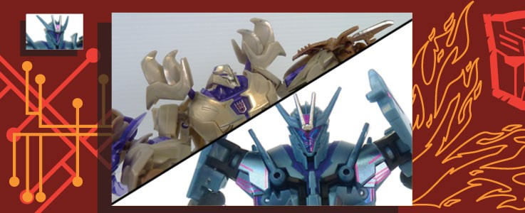 Labels for TF:Prime Megatron & Soundwave
