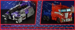 Labels for Cyber Battalion One step Optimus Prime and Megatron