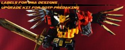 Labels for DNA Designs upgrade kit for POTP Predaking