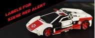 Labels for Siege Red Alert