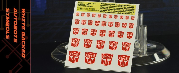 Symbols for Autobots (White backed)