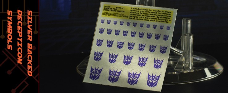 Symbols for Decepticons (Silver backed)