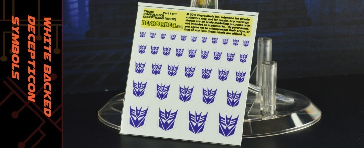 Symbols for Decepticons (White backed)