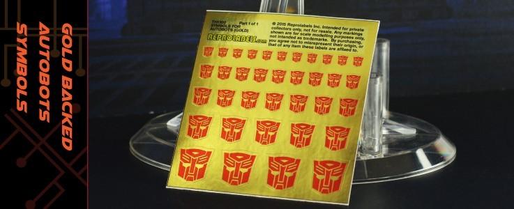 Symbols for Autobots (Gold backed)