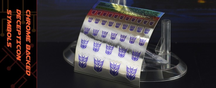 Symbols for Decepticons (mirror backed)