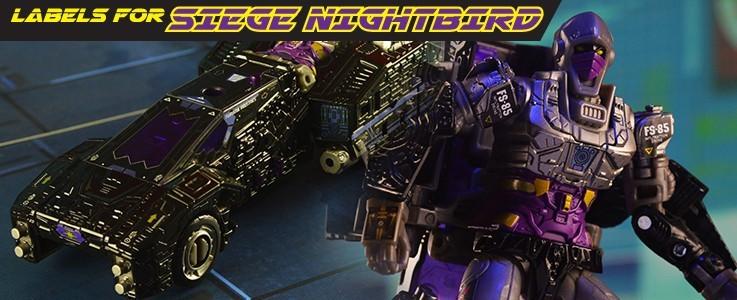 Labels for Siege Nightbird