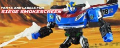 Labels and Parts for Siege Smokescreen