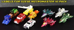 Labels for Siege Micromaster 10 Pack