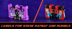 Labels for Siege Ratbat and Rumble