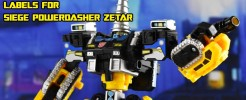 Labels for SIEGE POWERDASHER ZETAR
