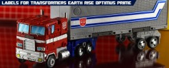 Labels for Earth Rise Optimus Prime