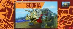 Labels for Fans Toys Scoria