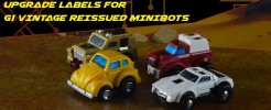 Upgrade Label set for G1 Reissued Minibots