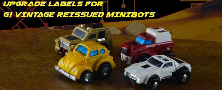Upgrade Label set for G1 Reissued Minibots