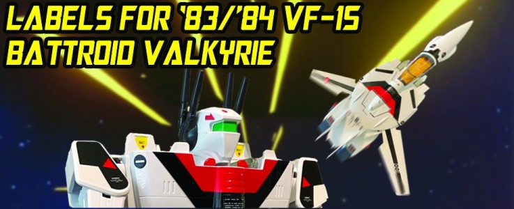 Labels for 1983-84 VF-1S BATTROID VALKYRIE