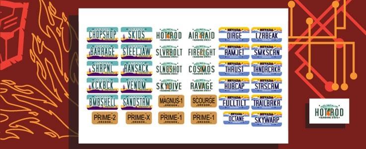 Name Plates Set 3 for Alternators