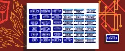Name Plates Set 4 for Alternators