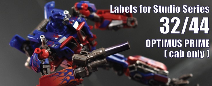 Labels for SS 32/44 Optimus Prime (cab only)