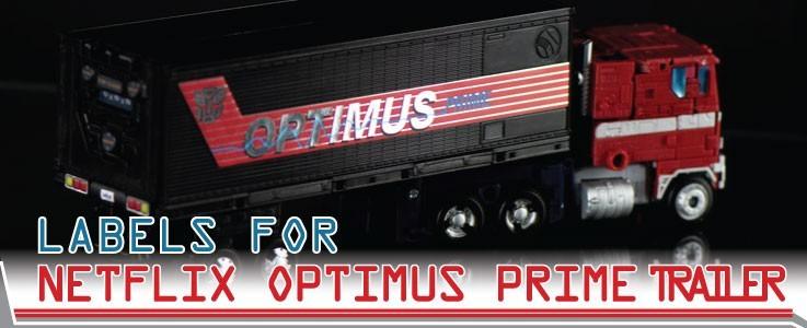 Labels for NF Trailer for G2 Optimus Prime