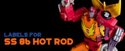 Labels for SS 86 Hot Rod