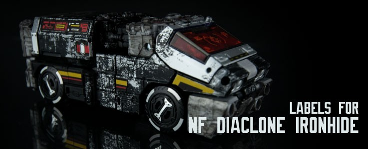 Labels for NF Diaclone Ironhide