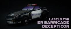 Labels for ER Barricade...
