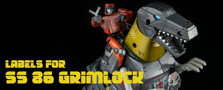 Labels for SS 86 Grimlock