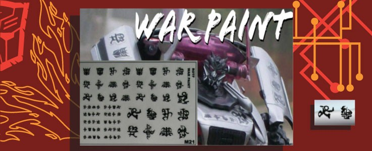 Labels for War Paint (White)