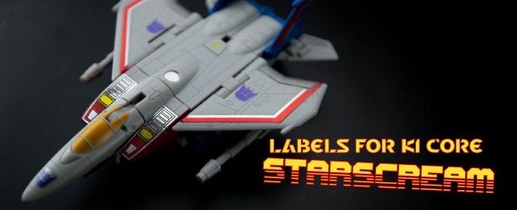 Labels for KI Starscream (Core)