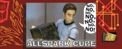 Labels for 2007 Allspark cube