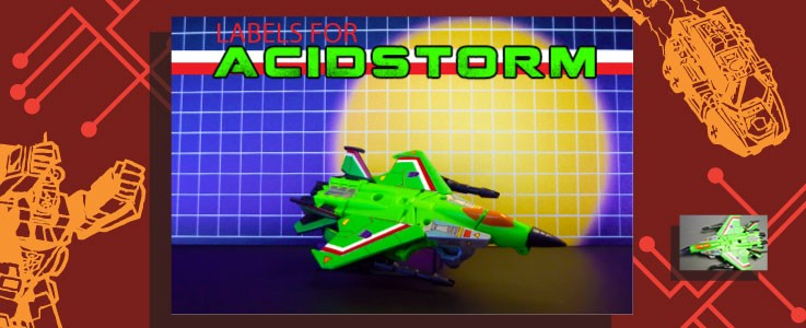 Labels for Generations G1 Acidstorm