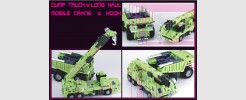 Labels for TFC Mobile Crane and Dump Truck