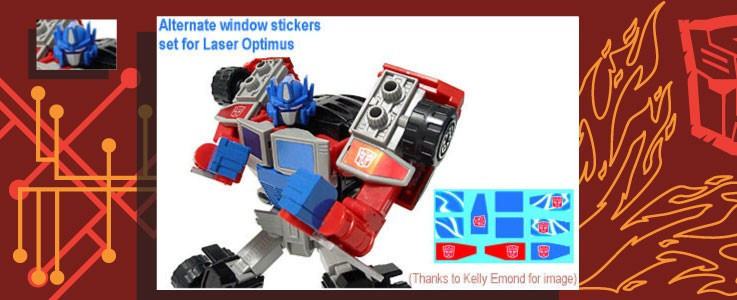 Labels for Laser Optimus Prime